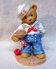 """Enesco Cherished Teddies Bob 1996 """"Our Friendship Is From Sea To ."""" #202444"""