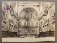 Stampa epoca - Roma Chiesa San Giovanni in Laterano interno - 1900