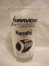 Coors Light Beer * Harvey'S Lt & Harrah'S Reno Nv Football Schedule Pint Glass
