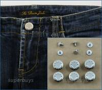 6pc 17mm Silver Jeans Jacket Denim Buttons Hammer Press Repair Replace Tack