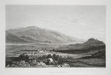 Toeplitz  Sachsen echter alter Stahlstich 1850