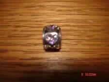 KAY JEWELER CHARMED MEMORIES HEART SHAPE PINK SWAROVSKI ELEMENT STERLING SILVER