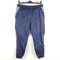 Vintage Adidas Jogginghose Herren Gr. D6 L Blau Rot Weiß Glanz Nylon Hose
