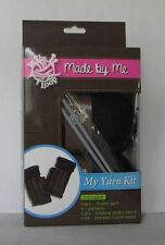"Cable Scarf Yarn Kit 3 Knitting Patterns Needles Tassel Maker Black ""Made by Me"""
