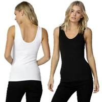 Tank Top Emma BETTY BASICS Sizes 10 12 14 16 18 20 Black White Singlet Camisole