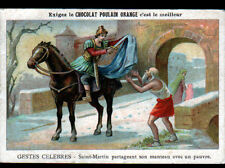 IMAGE CHROMO POULAIN / SAINT-MARTIN & le PAUVRE / Eveque à TOURS au IV° Siécle