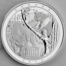 2015 $20 Wood Buffalo National Park and Sichuan Giant Panda Sanctuaries Silver