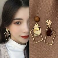 Fashion Geometric Acrylic Enamel Drop Dangle Earrings Ear Stud Women Jewelry Hot