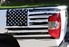 SET of 2pcs Left & Right FLAG decals for rear bed side trucks, trailer, camper