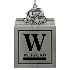 Wofford College-Pewter Christmas Holiday Ornament-Silver
