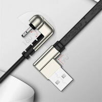 New Right Angle Game Cable Lightning Charging USB Cord For iPhone 11/XS/X/8/7/6