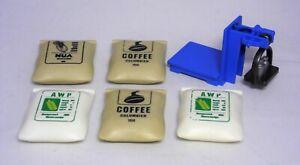 PLAYMOBIL 5 x Sack Säcke Coffee Nua und Waage zu Bauernhof Hafen   #11