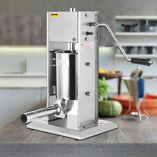 15l Vertical Sausage Stuffer 33lbs 2 Speed Stainless Steel Meat Press Commercial