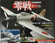 DeAGOSTINI Zero Fighter 1/16 Scale Dicast Unassemble Model Kit Complete Set New