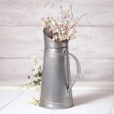 Country new large Antiqued Brushed tin decor pitcher / nice decor
