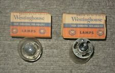 Westinghouse NOS Lamp No. 2330 6-Volt Headlight Bulbs Pair Fits Harley Davidson
