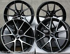 "18"" BLACK MACHINED FACE GTO ALLOY WHEELS FITS RENAULT VOLVO PEUGEOT 5X108 ONLY"
