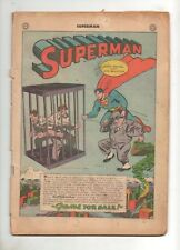 Superman #35 Cover-less Golden Age Book from July, 1945 World War II 2 Era!