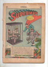 Superman #35 Cover-less Golden Age Book from July, 1945 World War II 2 Era!