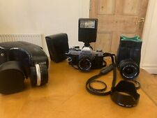 Canon AE-1 35mm SLR Camera with Canon FD 50mm f1.8 Plus 28mm 2.8