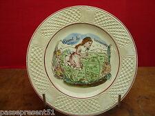 Jolie ancienne assiette, Pexonne, Vivent les vacances