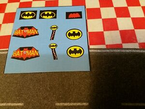 Corgi Batman and Robin  Batcopter 925   Full set of Stickers only,