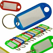 10Pcs Plastic Key Tags Key Rings ID Luggage Tags Name Card Label Random Color