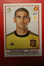 Panini EURO 2012 N. 288 ESPANA VALDES  NEW With BLACK BACK TOPMINT!!
