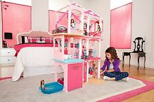 Dollhouse Barbie Dreamhouse Doll House Mansion Interactive Accessories 3 Levels