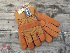 Carhartt Bison Leather Insulated Work Gloves - Heavy Duty Work Gloves A513B