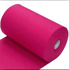 Fuchsia Cerise Pink Cotton Elastin Jersey Rib Cuff Half M Stretch Waistband Trim