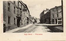 High Street WINCANTON Somerset Greyhound Hotel Original Postcard Watling (2.95)