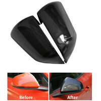 For Ford Mustang 2015-2019 Carbon Fiber Style Side Rearview Mirror Cover Trim US