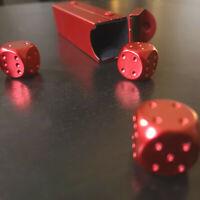 5x Würfel Metall Rot Aluminium Poker Kniffel Glück Magie Zauber Box schwer