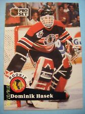 "1991-92 Pro-Set ""Rookie"" (Chicago Blackhawks) # 529 Dominik Hasek RC!"