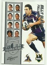 2012 NRL SELECT DYNASTY MELBOURNE STORM BILLY SLATER TY1 TEAM OF THE YEAR CARD