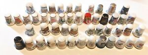 COLLECTION OF 49 THIMBLES - random selection, sold as one job lot