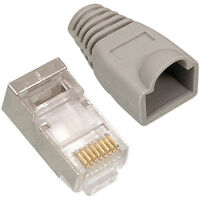 100x RJ45 CAT5e FTP/STP CABLE END CRIMP PLUGS -8P8C CONNECTORS- NETWORK ETHERNET