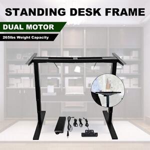 UK Desk Frame Electric Stand Desk/Height Adjustable Sit Stand Workstation Frame