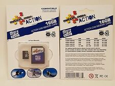 BOGO! MAXFLASH ACTION MICRO SDHC 16GB ACTION CAM MEMORY CARD & ADAPTER CLASS 10