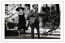 AUDREY HEPBURN + GEORGE PEPPARD BREAKFAST AT TIFFANY'S SIGNED PHOTO PRINT