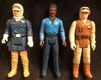 1980 Vintage Star Wars Lot of 3x Empire Strikes Back Lando Rebel Hoth Hong Kong
