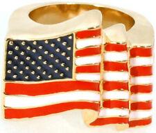Chapado en Oro Anillo de bandera de Estados Unidos Ari D Norman
