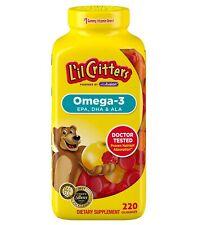 Lil Critters 220 Omega-3 Kids Gummy Vitamins DHA Children's Dietary Supplement