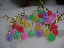 Gumdrop 36pc Mini Sugar Coated Fake candy Christmas Tree Ornaments crafts