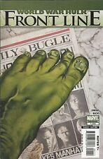 World War Hulk Comic Issue 1 Frontline Modern Age First Print 2007 Bachs Marvel