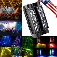 US 80W RGBW 8LED Spider Moving Head Stage Lighting Beam DMX Disco Party DJ Light