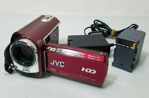 JVC Everio GZ-MG330 30GB Hard Drive Camcorder Red *GOOD/TESTED*