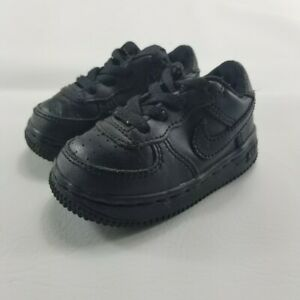 Nike Force 1 Low 307119-001 Toddler Black Size 4