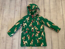 Mini Boden Green Dog Hooded Jacket  Parka Coat 6 - 7 Youth